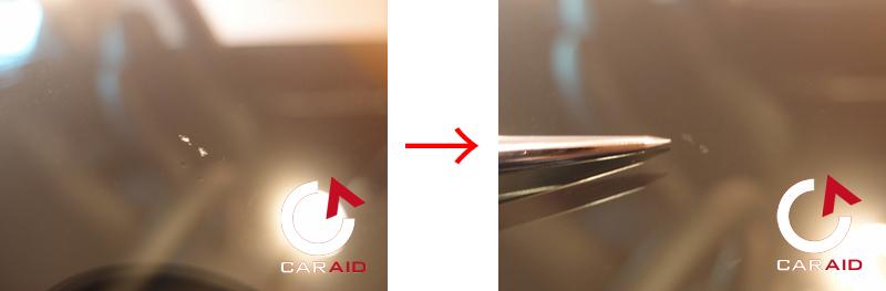 スバル WRX S4 ウインドリペア チッピング施工例
