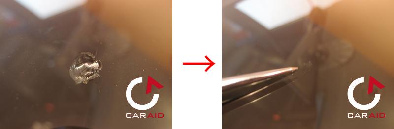 アウディ S6 ウインドリペア施工例