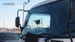 大型トラックのウインドリペア