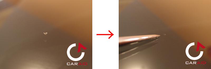 ガラスリペア・チッピング施工例BMW