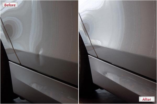 BMW、1シリーズ(130)のドアにおけるデントリペア施工例写真画像