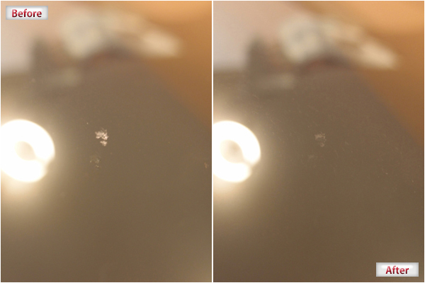 ウインドリペア・ガラスリペアによる、チッピングの場合施工前例画像その4